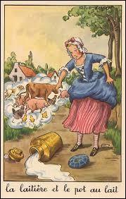 """Comment s'appelle la laitière dans la célèbre fable de La Fontaine """"La Laitière et le pot au lait"""" (1678) ?"""