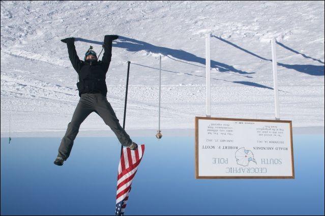 Il fait plus froid au pôle Sud qu'au pôle Nord.