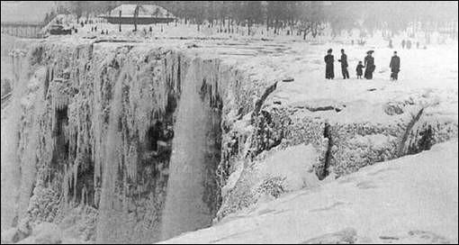 Les chutes du Niagara peuvent geler.