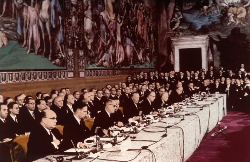 Parmi ces propositions, en quelle année a eu lieu le traité de Rome ?