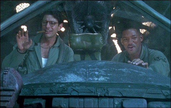 Ce film, sorti en 1996, réuni Will Smith, Jeff Goldblum et Bill Pullman :
