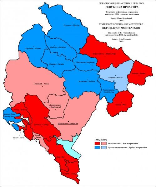 Quel est l'écart entre l'indépendance du Monténégro et celle de la Serbie ?