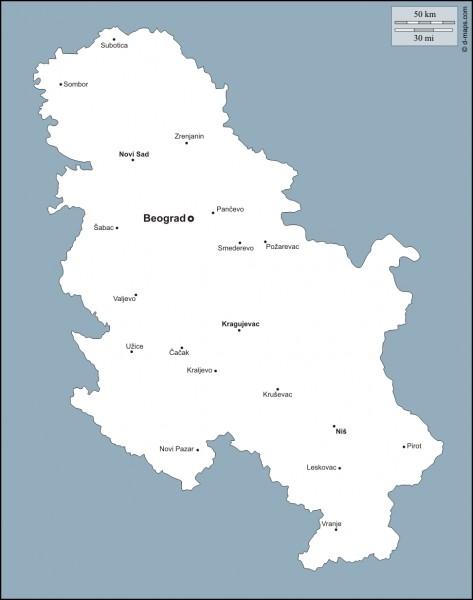 Quelle est la superficie de la Serbie, sans le Kosovo?