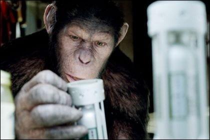 """Dans """"La Planète des Singes"""", quel est le jeu qui permet aux scientifiques de tester l'efficacité du rétrovirus ALZ-112 sur des singes ?"""