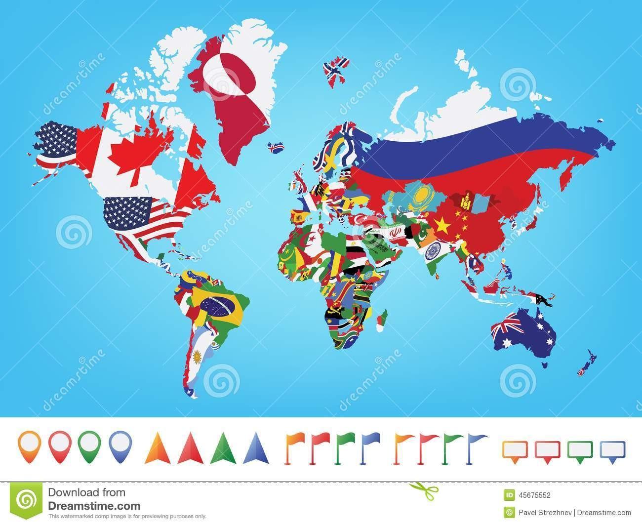 Les drapeaux des pays (moyen)