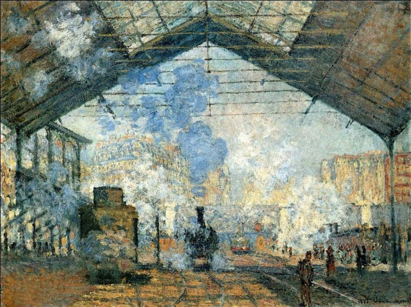 Peinture - Quelle gare est ici représentée par Claude Monet ?
