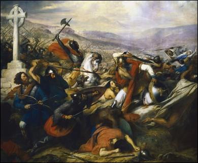 """2e bataille, à Vouneuil sur Vienne, 732 le sultan """"Abd al-Rahman"""" est défait, les Arabes s'en retourne en Espagne. Quel Charles est victorieux ?"""