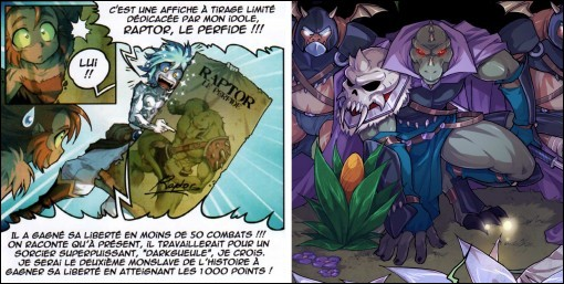 Raptor le perfide apparaît sur l'affiche de Samaël mais aussi dans un autre tome lequel ?