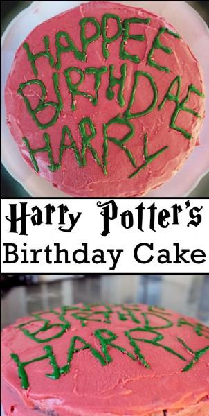 Quel est le jour d'anniversaire de Harry ?