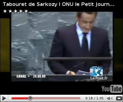 Comment Nicolas Sarkozy triche-t-il à l'ONU pour camoufler sa petite taille ?