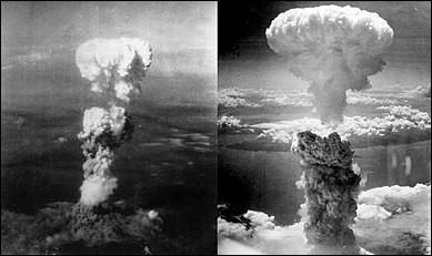 Les bombardements atomiques d'Hiroshima et Nagasaki ont eu lieu :