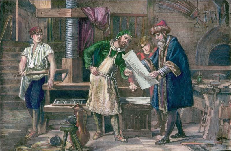 En 1455, quel est le premier livre à être imprimé par Gutenberg ?