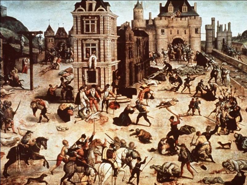 Associez la bonne date correspondant au massacre de la Saint Barthélémy.
