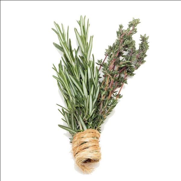 Pot-au-feu. Laquelle de ces herbes aromatiques est dans la composition du bouquet garni du pot-au-feu ?