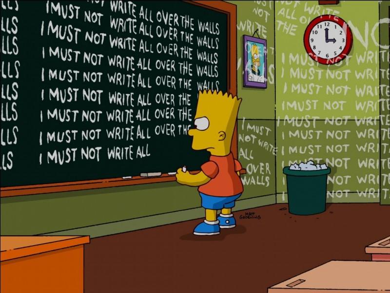 Qui est le professeur de Bart Simpson en classe de CM1 ?