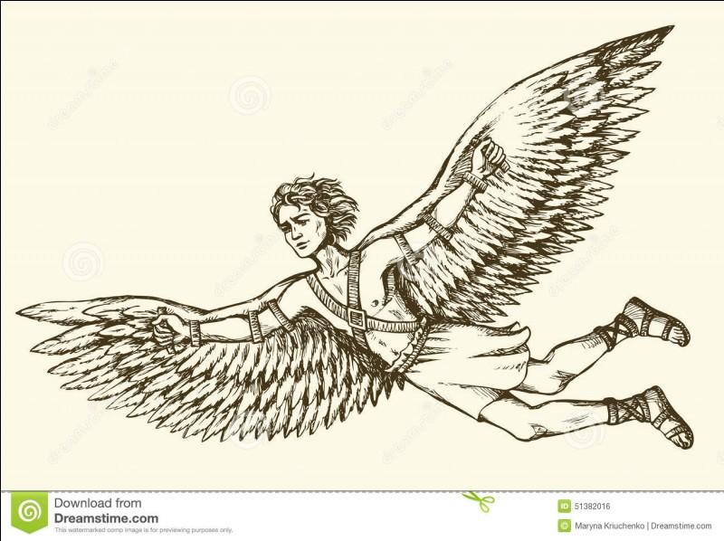 Dans la mythologie grecque, quel fils de Dédale s'évade du Labyrinthe grâce à des ailes fixées sur son dos ?