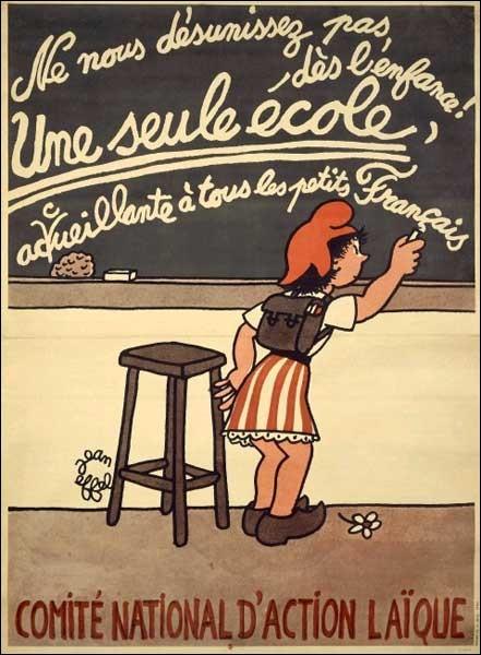 """C'est à Luc Ferry que l'on doit """"l'école publique laïque, gratuite et obligatoire""""."""