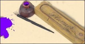 Nos grands-parents écrivaient avec des porte-plumes, des plumes (Sergent Major) et de l'encre violette.