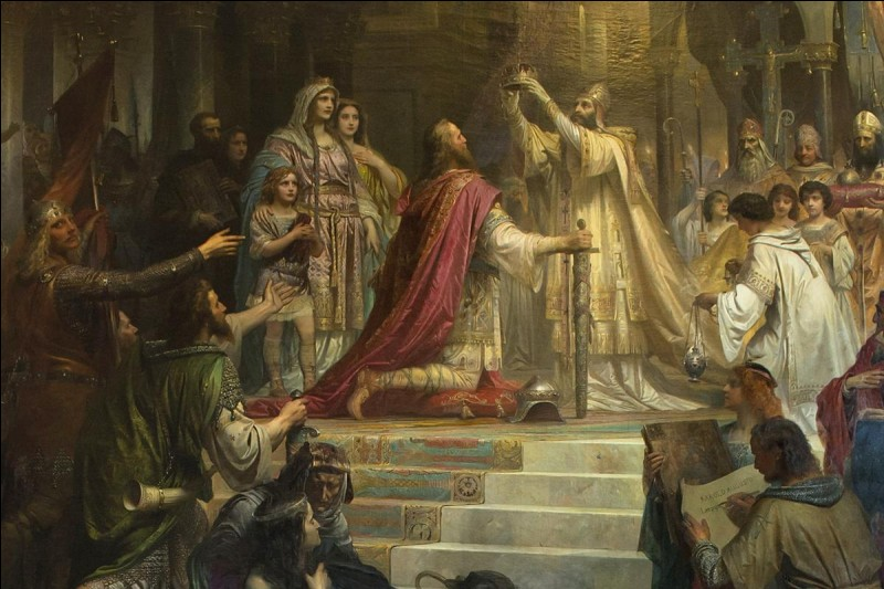 Charlemagne, lui, est le fils de...