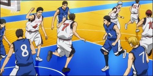 Kise perd un match d'entrainement contre le lycée Seirin.