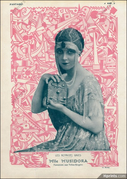 Musidora première vamp, actrice, réalisatrice, productrice, auteure mais aussi chanteuse. Certaines de ses chansons sont aujourd'hui reprises par Marie-Claude Cherqui qui tient à faire renaître le mythe . Mais qui est donc Marie-Claude Cherqui ?
