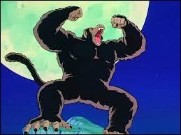 Goku se transforme en singe géant pendant la pleine lune car il a une queue.