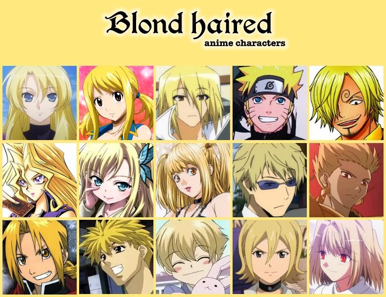 Personnages de mangas : les cheveux blond