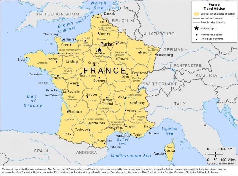 F - Combien de régions composent la France ?
