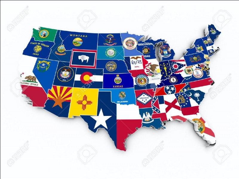 Lequel des ces états aimes-tu le moins ?