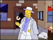 Quelle saga Homer parodie-t-il ?