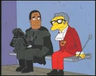En quels personnages Moe et Dr Hibert sont-ils déguisés ?
