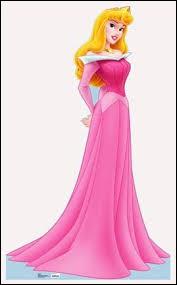 Quel est le nom de cette princesse Disney portant une robe rose ?