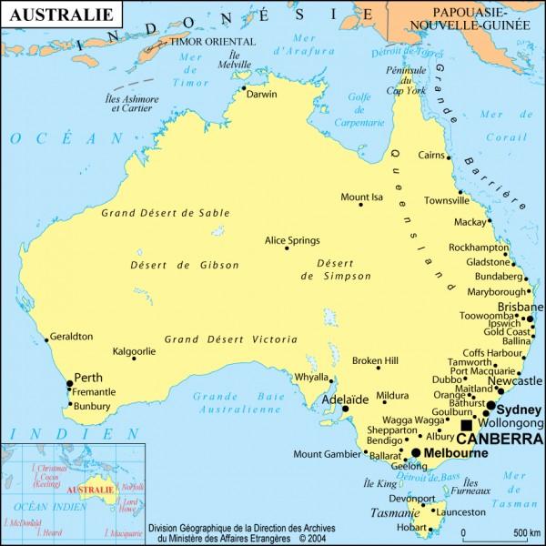 Quelle est (environ) la superficie de l'Australie ?