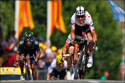 Combien de kilomètres comptait l'étape n°13 qui arrivait à Foix et a vu la victoire de Barguil au sprint devant Quintana et Contador ?