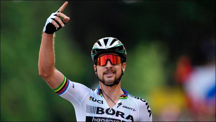 Qu'est-il arrivé à Peter Sagan lors de sa victoire au sprint à Longwy sur la 3ème étape ?