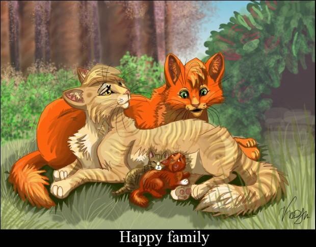 Tempête de Sable est maintenant mère d'une heureuse famille avec Étoile de Feu. Qui sont leurs enfants ?
