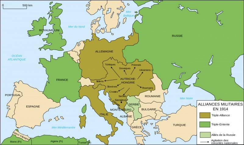 En quelle année les États-Unis sont-ils entrés dans la Première Guerre mondiale ?