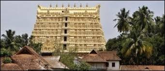À quel dieu hindou est dédié ce temple du sud de l'Inde dans lequel on a trouvé un fabuleux trésor, en 2011 ?