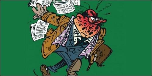 Comment se nomme cet riche homme d'affaires qui tente désespérément de signer ses contrats avec Fantasio ?