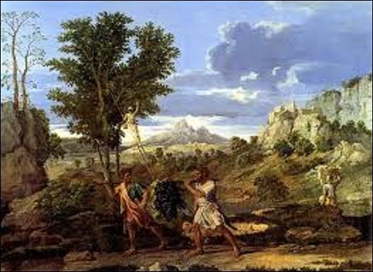 ''Les Saisons'' est le dernière ensemble de peintures à l'huile réalisées par ce peintre de mouvement classicisme. C'est un cycle de quatre toiles représentant chacune une saison. Peintes à Rome entre 1660 et 1664 pour le duc de Richelieu, le neveu du cardinal, le tableau ''L'Automne'' est aussi appelée ''La Grappe de Canaan'' (voir lien). Quel artiste est l'auteur de ce chef-d'œuvre ?