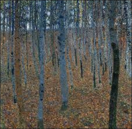En 1902, quel peintre symboliste autrichien a peint ce tableau nommé ''Haut-bois'' ?