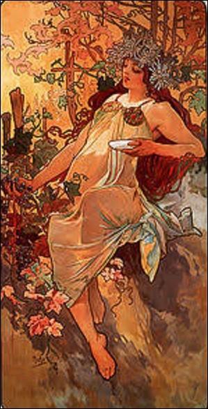 À quel artiste, fer de lance de l'Art nouveau, doit-on cette lithographie en 1896 appelée ''Automne'' ?