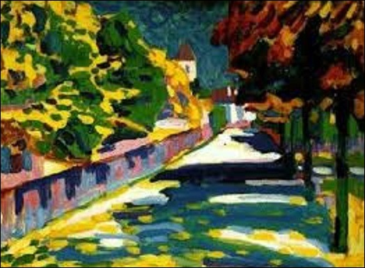 En 1908, quel peintre de mouvement d'art abstrait et expressionnisme a peint ce tableau appelé ''Automne en Bavière'' ?