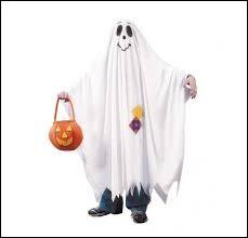 Quel accessoire utilise-t-on souvent pour se déguiser en fantôme ?