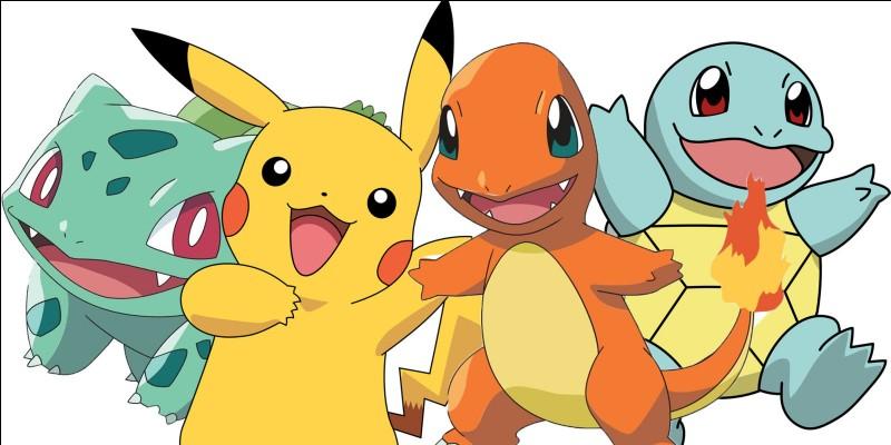 Quels sont ces quatre Pokémon ?