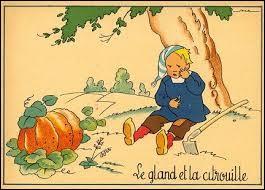 """Qui a écrit la fable intitulée """"Le gland et la Citrouille"""" ?"""