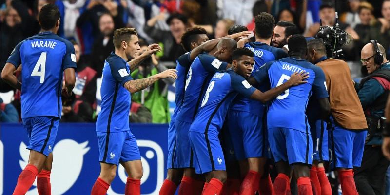 Quel est le résultat final de la dernière rencontre des Bleus lors des qualifications pour la Coupe du Monde 2018 en Russie ?