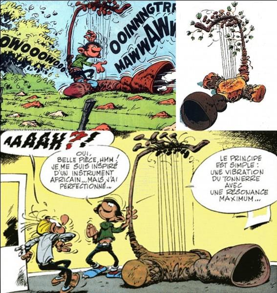 Une invention de Gaston provoqua l'effondrement de l'immeuble du journal et une coupure d'eau et d'électricité pour une partie de la ville. Cette invention exista en plusieurs formes tout aussi dangereuses les unes que les autres.Quelle est cette invention ?