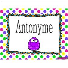Qu'est-ce qu'un antonyme ?