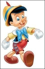 Ce personnage n'est pas une invention de Disney, qui est allé le chercher dans la ''Commedia dell'arte''. Avec des gants comme ceux de Mickey, entouré de Jiminy Criquet, qui est un peu sa conscience, habillé comme un habitant du Tyrol autrichien, quand il ne ment pas, il a tout du petit garçon qu'il deviendra à cause de sa bonté.